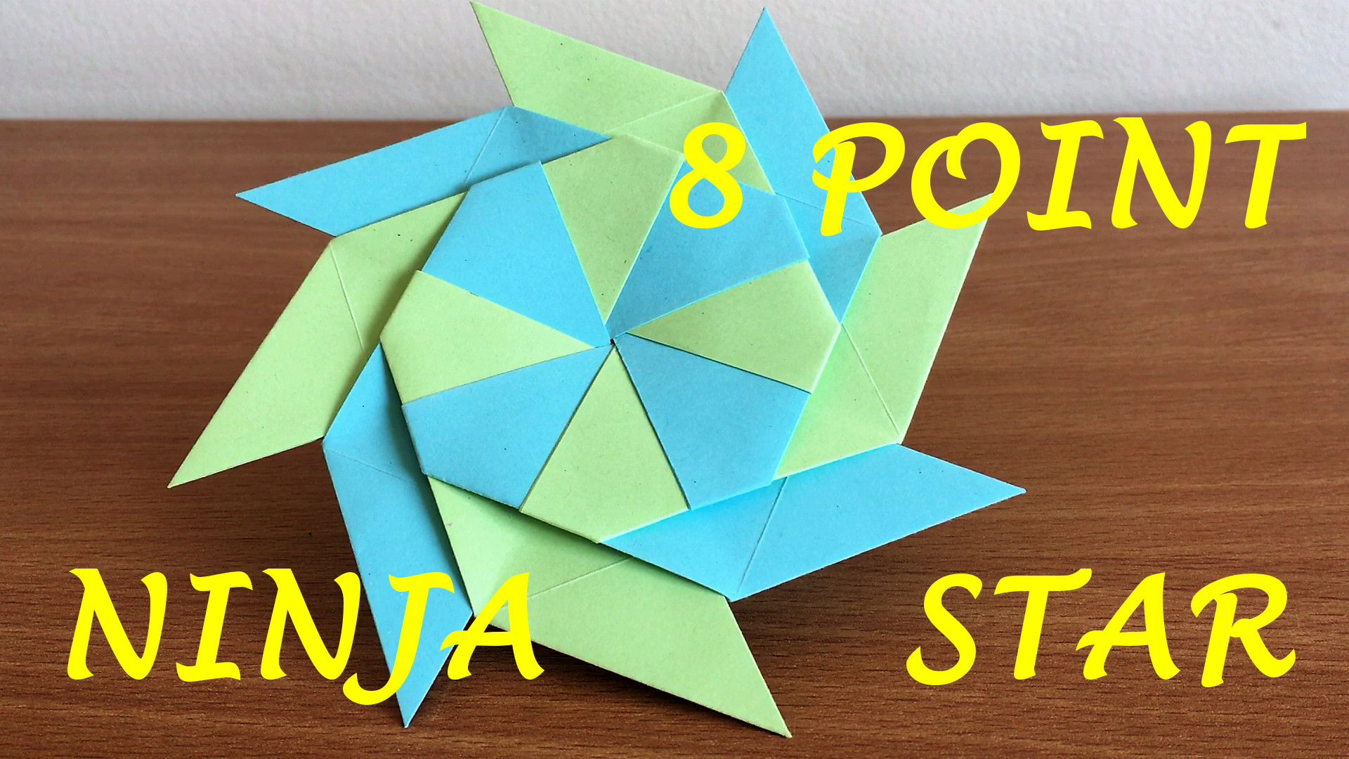 How To Make A Transforming Ninja Star (8-Pointed) – Dr. Hacker